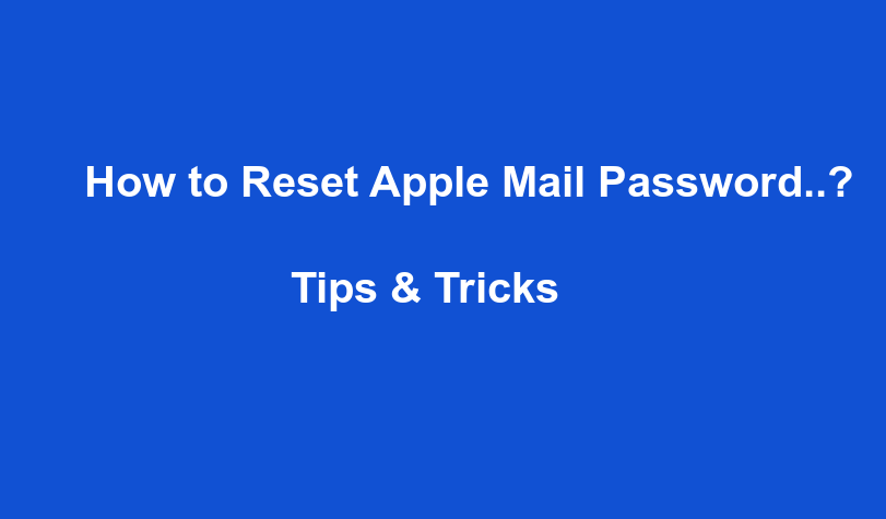 How To Reset Apple Email Password