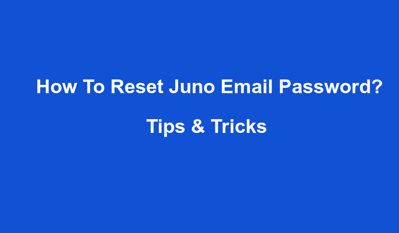 How To Reset Juno Email Password?